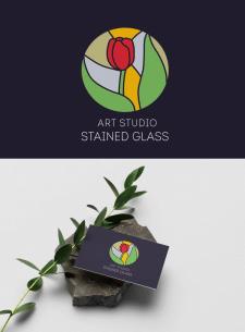 Логотип для арт-студии по витражу