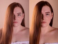 Удаление дефектов кожи, цветокор, кадрирование