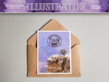 Открытка в Adobe Illustrator