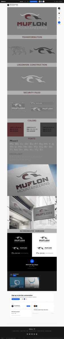 MUFLON Logo for mountaineering club