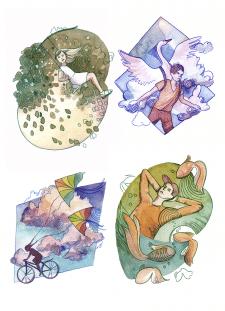 Серия акварельных иллюстраций - 2