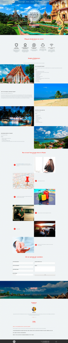 Landing Page - Your private driver in Phuket