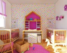 Дизайн інтер'єру дитячої для близняток