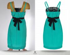 Обтравка платья