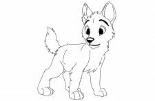 Иллюстрация в векторе щенок