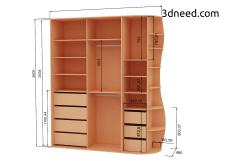 Моделирование и визуализация шкафа купе.