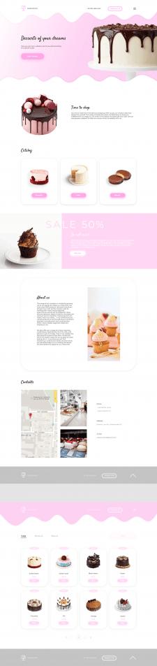 Дизайн для CakeShop