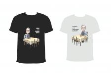 карикатура, принты для серии футболок