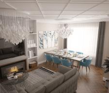 Дизайн интерьера 3-х комнатной квартиры в Астане