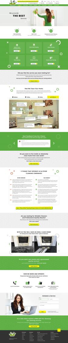 Дизайн сайта Клининг