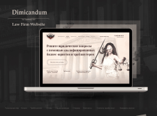 Web concept for law company