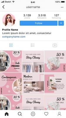 Дизайн постов Instagram