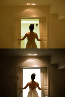художественная обработка свадебной фотографии
