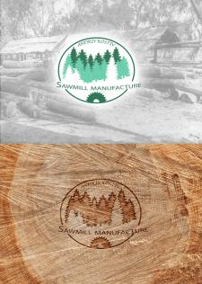 Логотип для компании лесопильного производства