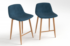 Bar stool chaise de bar mi blue duck