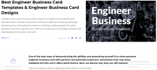 Engineer Business Card Templates. Engineer Bu