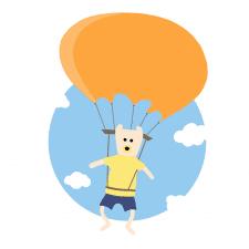 мишка с парашютом