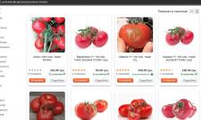 Наполнение интернет магазина семян