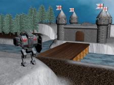 Робот возле замка