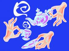 Чаювання,руки,посуд