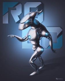"""Robo"" character illustration"