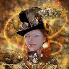 Коллаж и обработка портрета в стиле Steampunk
