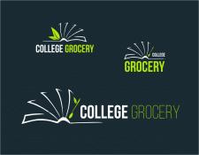 Логотип службы доставки продуктов в кафе колледжей