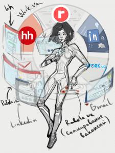 Заказная иллюстрация с авторским персонажем