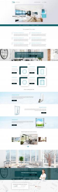 """Дизайн сайта для компании """"Окна завода"""""""