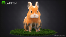 Моделирование, текстурирование и груминг кролика