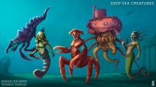 Концепт-арт підводних монстрів.