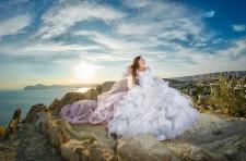 пример свадебной съемки  в крыму (г. Орджоникидзе)