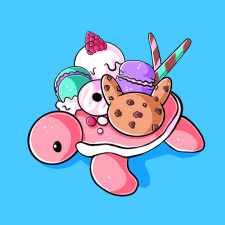 Черепашка со сладостями