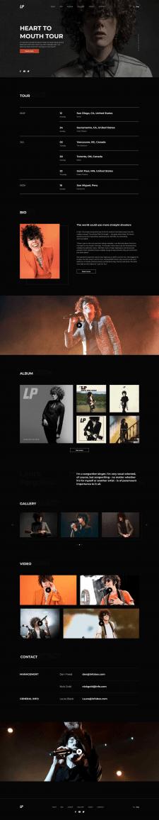 Дизайн сайта для LP