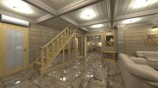 Лестница в срубном доме