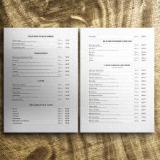 Верстка текста для ресторанного меню