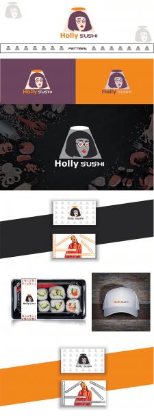 Лого для доставки суши