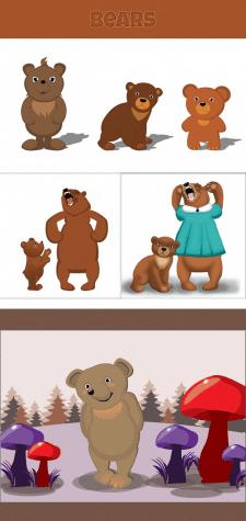 Медведики для дитячої книжки