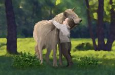Волк и ребёнок