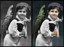Превращение чёрно-белого фото в цветное