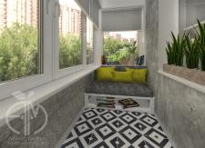 Дизайн балкона в двухкомнатной квартире в Киеве