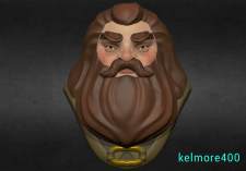 Hagrid Harrypotter Zbrush Sculpting