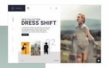 Web design сайта по продаже одежды 0.2