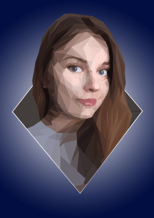 Полигональный портрет.