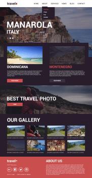 Дизайн сайта (Landing Page) «Travel»
