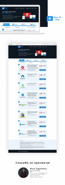 Дизайн сайт для Best 10 VPN