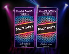 "Флаер для клуба ""Disco Party"""