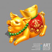 Chinese golden pig / Китайская золотая свинка