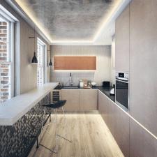 Визуализация кухни Лондон.