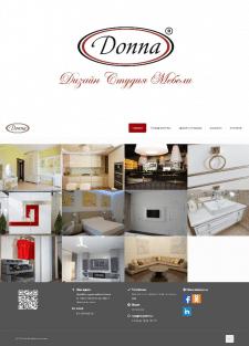 Создание сайта для студии изготовления мебели